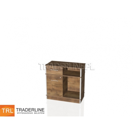Lada sklepowa z szafką i szufladą, 90x45x90cm