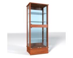 Gablota ze szklaną ekspozycją, wysoka