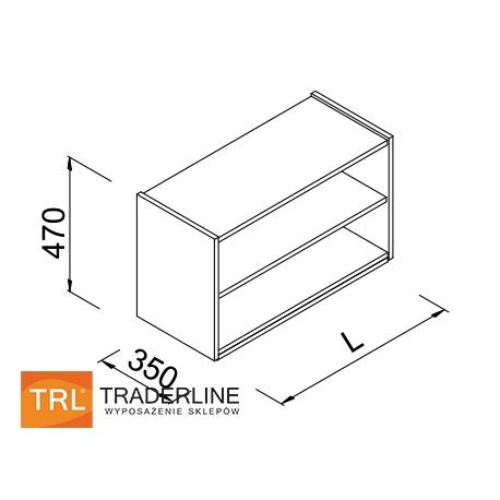 Nadstawka regału z półkami do sklepu 60x35x47cm