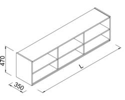 Nadstawka regału z półkami do sklepu 180x35x47cm