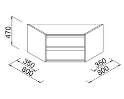Nadstawka regału narożnego do sklepu 80x35x47cm