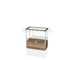 Lada sklepowa, szklana, z szufladą, 90x45x90cm