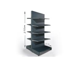 Gondola sklepowa H210cm, półki 2x47cm, 8x37cm