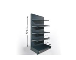 Regał sklepowy H180cm, półki 1x37cm, 4x30cm