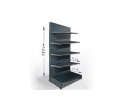 Regał sklepowy H180cm, półki 1x47cm, 4x37cm