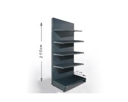Regał sklepowy H210cm, półki 5x37cm