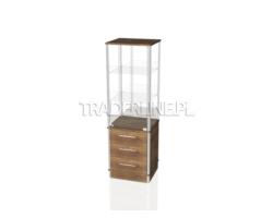 Gablota ekspozycyjna 50x45x160cm z 3 szufladami
