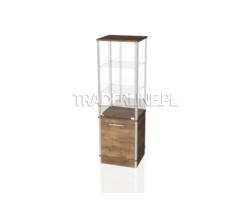 Gablota ekspozycyjna 50x45x160cm z wysoką szafką