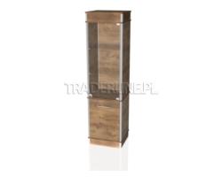 Gablota ekspozycyjna 50x45x190cm z szafką, pełna