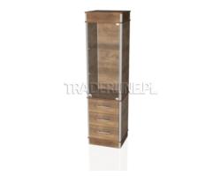 Gablota eksp. 50x45x190cm,2 szuflady, pełna