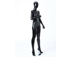 Manekin sklepowy damski, wystawowy, czarny połysk