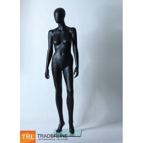Manekin sklepowy damski, abstrakcyjny, czarny mat