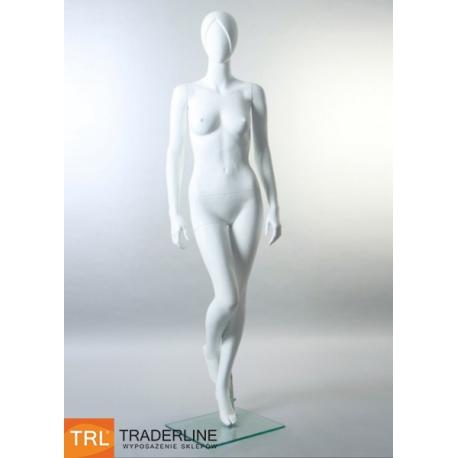 Manekin damski, abstrakcyjny, biały mat
