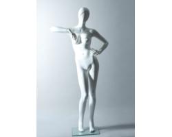 Manekin sklepowy damski abstrakcyjny, biały matowy