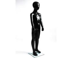 Manekin dziecięcy, abstrakcyjny, czarny połysk