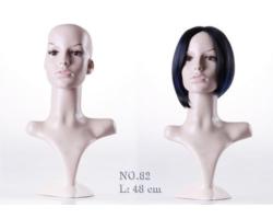 Ekspozytor głowa damska, realistyczna, cielista