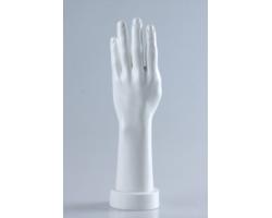 Ręka damska, lewa, biały połysk