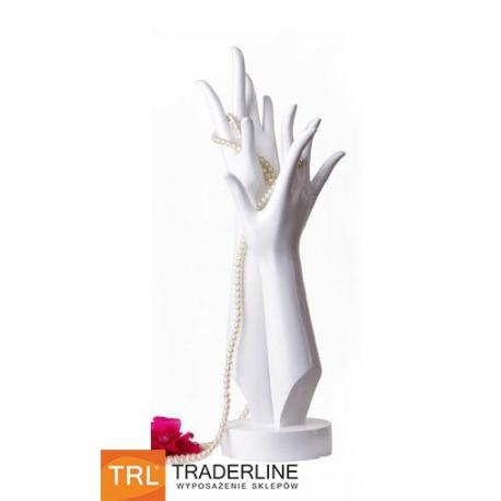Ręce damskie, biały połysk