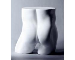 Nogi męskie, biały połysk