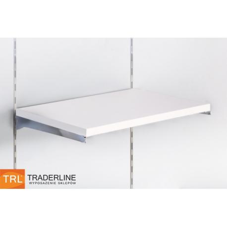 Półka z płyty Soti-Line, biała, wsporniki chrom