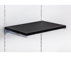 Półka z płyty Soti-Line, czarna, wsporniki chrom