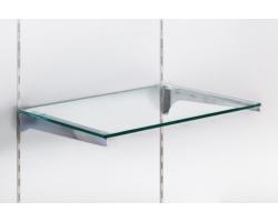 Półka szklana 6mm gr., Soti-Line, wsporniki chrom