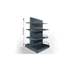 Gondola sklepowa H160cm, półki 2x37cm, 6x30cm