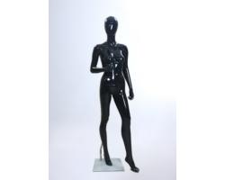 Manekin damski, wystawowy, czarny połysk