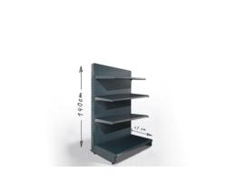 Regał sklepowy H140cm, półki 4x47cm