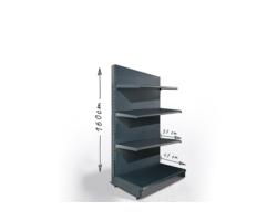 Regał sklepowy H160cm, półki 1x47cm, 3x37cm