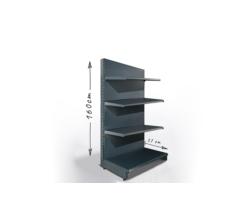 Regał sklepowy H160cm, półki 4x37cm