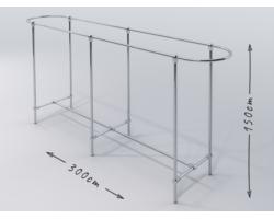 Gondola sklepowa wieszak odzież 300x55x150 chrom