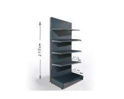Regał sklepowy H210cm, półki 1x47cm, 4x37cm