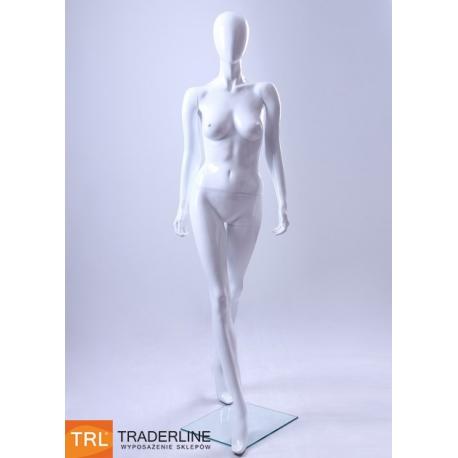 Manekin sklepowy damski abstrakcyjny, biały połysk