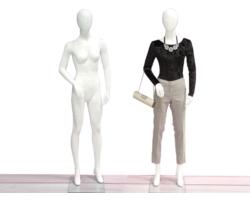 Manekin damski do sklepu nowoczesny, biały mat