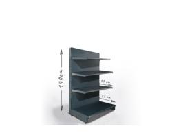 Regał sklepowy H140cm, półki 1x37cm, 3x30cm