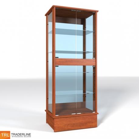 Gablota ze szklaną ekspozycją, zamykana