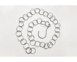 Łańcuch na wieszaki z haczykiem, 1mb