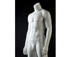 Manekin męski bez głowy, biały mat