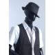 Manekin abstrakcyjny, męski,czarny połysk