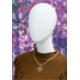 Manekin damski wystawowy abstrakcyjny, biały, poły