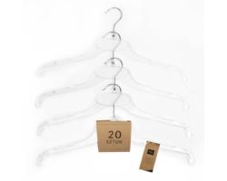Wieszak odzieżowy 44cm bezbarwny 20 szt