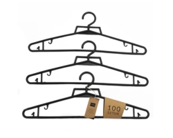Wieszaki odzieżowe 40cm czarne 100szt