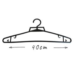 Wieszak odzieżowy, 40cm, czarny