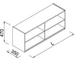 Nadstawka regału z półkami do sklepu 120x35x47cm