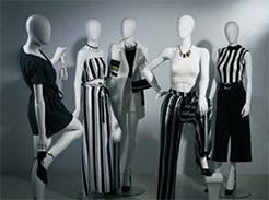 Manekiny damskie abstrakcyjne