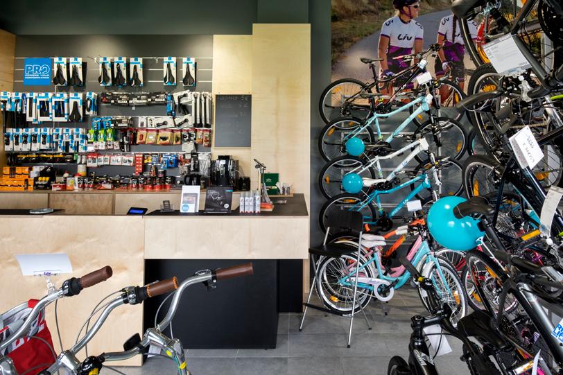 Wyposażenie sklepu rowerowego