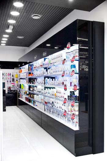 Regały do sklepu kosmetycznego