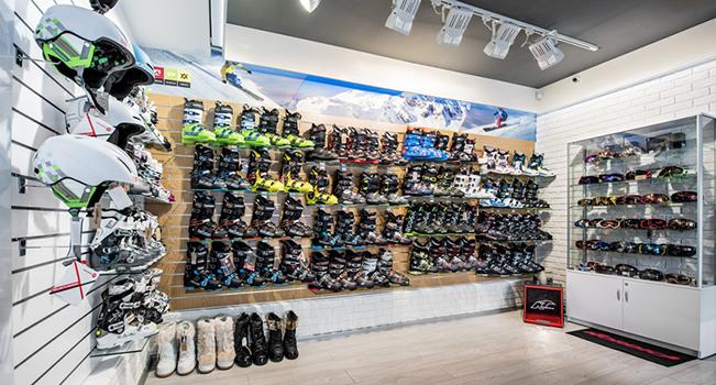 Wyposażenie sklepu z nartami