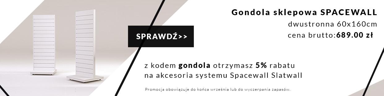 Gondola 60x160cm dostępna od ręki